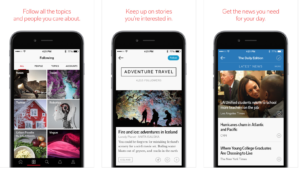 Flipboard's iOS app screenshots