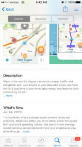 waze ios app product page
