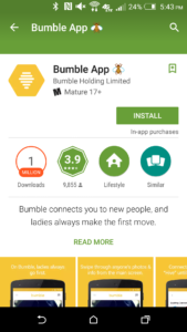 bumble android mobile app listing