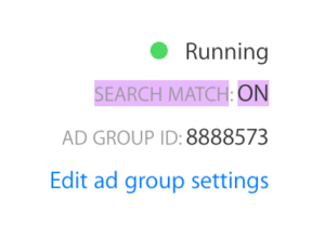apple search match