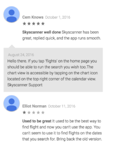 skyscanner google play user reviews2