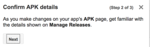 google play manage releases step 2