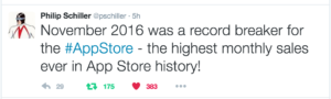 Apple Phil Schiller tweet app store revenues