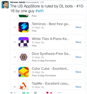 app store spam accounts