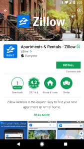 zillow google play feature graphic