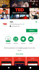 ted google play feature graphic