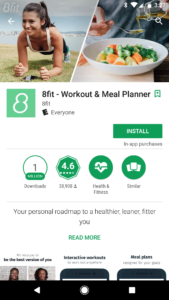 8fit google play feature graphic
