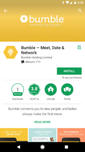 bumble google play feature graphic