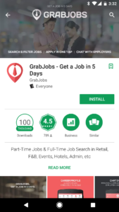 grab jobs google play feature graphic