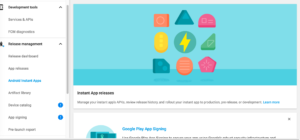 google play android instant apps