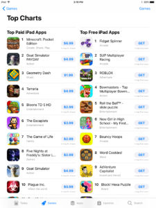 app store 2.0 top chart games