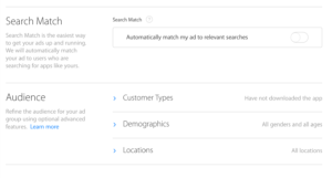 apple search ads remarketing