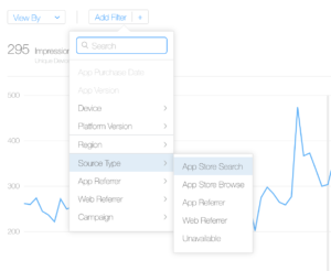 itunes connect app analytics source type