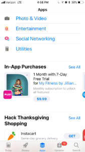 myfitness by jillian m promoted IAP