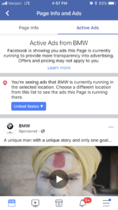 facebook ads info and ads feature app2